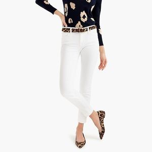 "J. Crew 8"" Toothpick Jean in White"